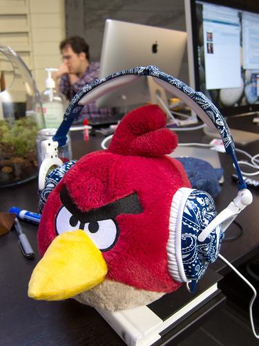 Red Angry Bird Models Snoop Dogg Skullcandy Headphones