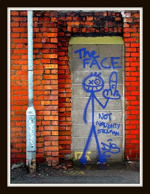 Elm Street Graffiti - Naughty Stickman revenge by Dis