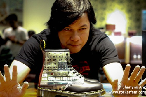Raymund Marasigan (a.k.a Squid 9) Poses with his Doc Martens Design