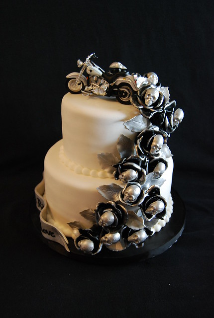 Harley Themed Wedding Cake Flickr Photo Sharing