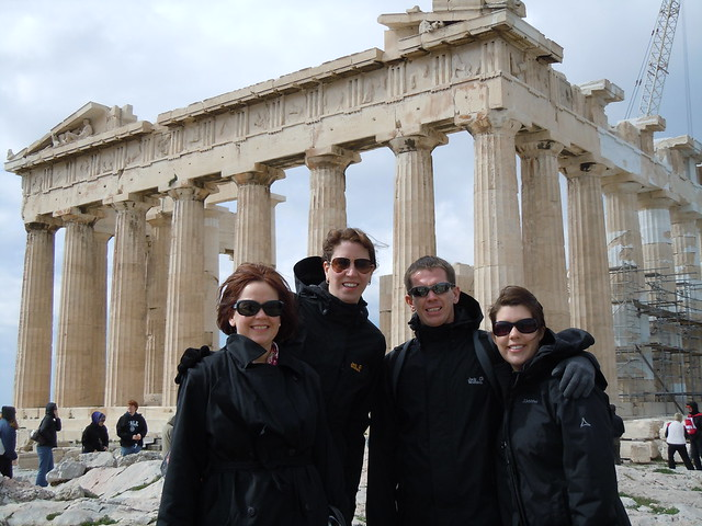 Angie, me, Gary and Jen at the Parthenon