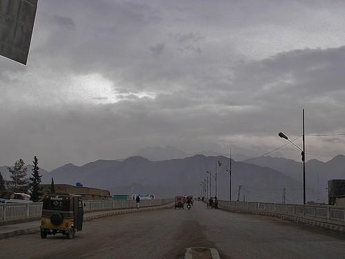 Sohrab Road area of Quetta in Winter, Pakistan - February 2011