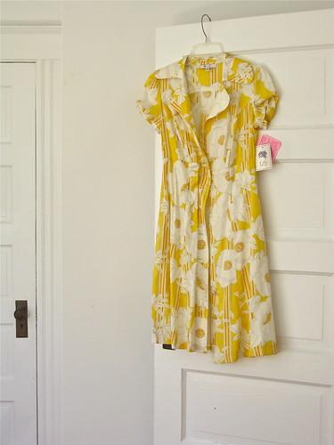 """""""Lily"""" yellow shirtdress"""