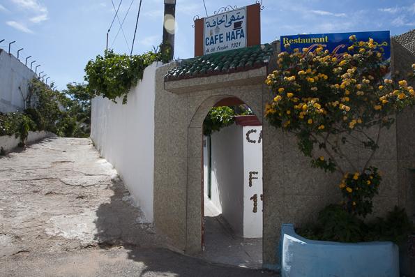 Cafe Hafa exterior, Tangier Morocco
