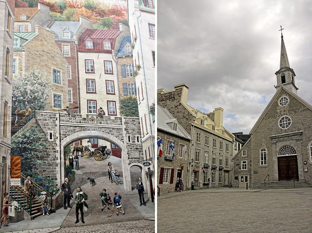 church square and mural