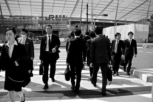 Tokyo black suits