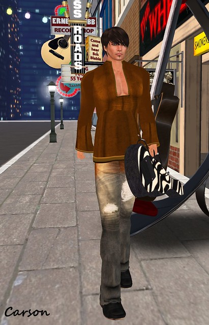 22769 - Indian Comfi and Bleeded Crushed Jeans, Zebra Guitarbag  (Mesh)