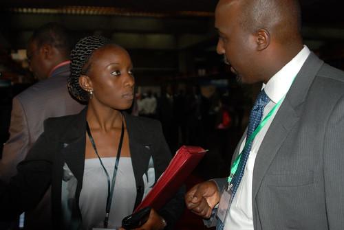 Kenya Government 'Open Data Web Portal' launch: ILRI's Brenda Wandera and Andrew Mude