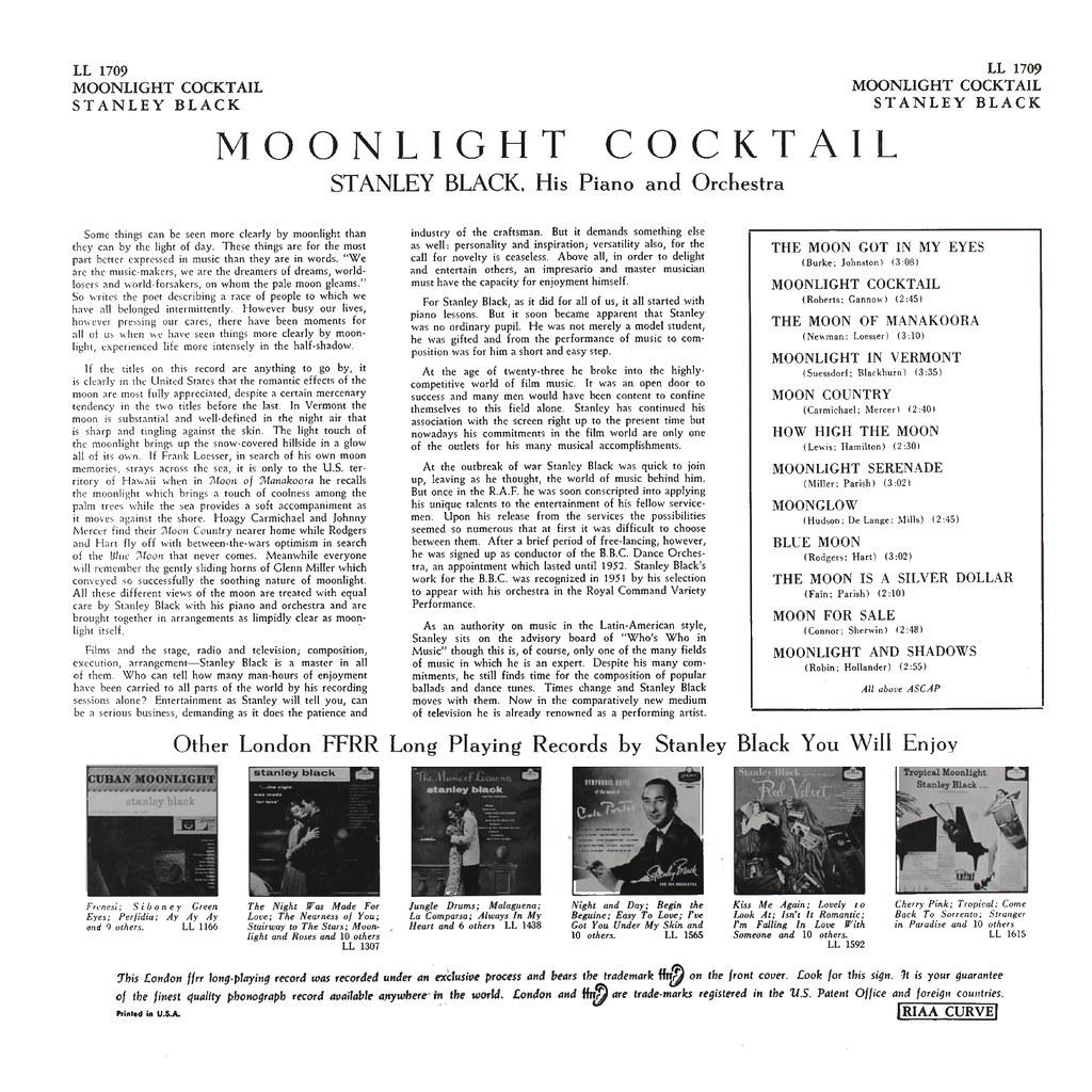 Stanley Black - Moonlight Cocktail
