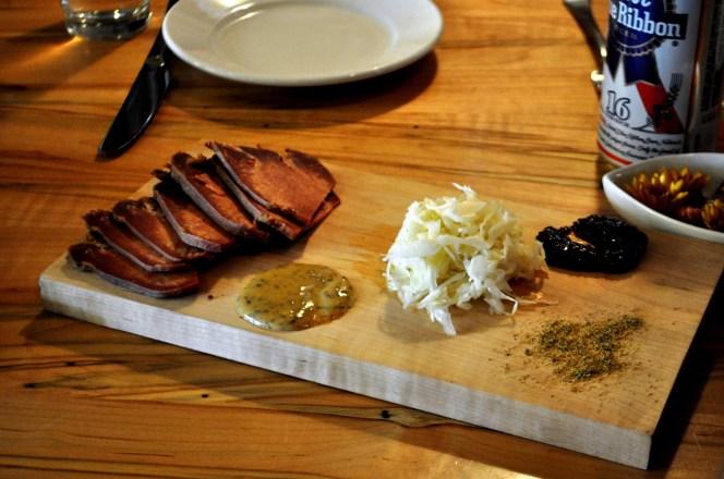 Sliced Bison Tongue, Local Roots Restaurant, Roanoke, VA, April 2014 #OldSchoolVA #LoveVA