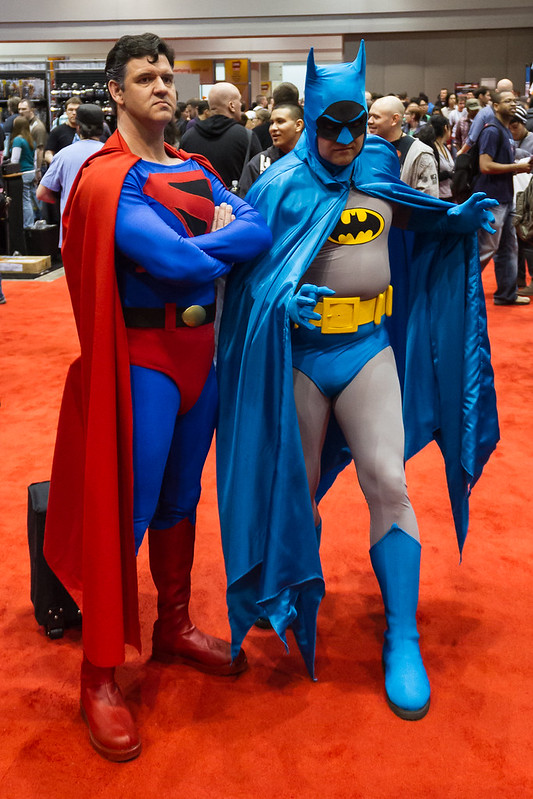 Superman and BatMan Team up at C2E2 2012