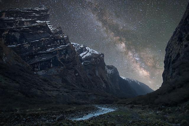 Milky Way above the Himalaya