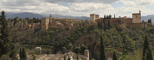 Alhambra view, Granada, Spain