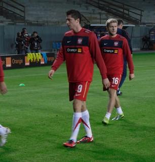 Polscy piłkarze na treningu