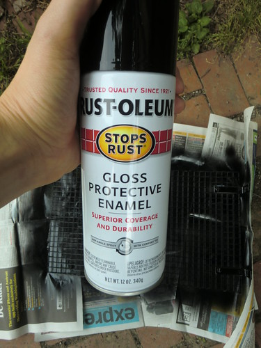 Spray with Rustoleum, a DIY-er's best friend.