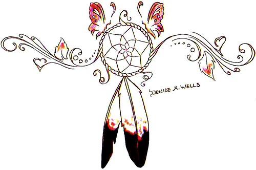 Dreamcatcher Tattoo Design by Denise A. Wells