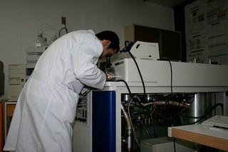 Researcher at Cuba's Bio Tech Center outside Havana