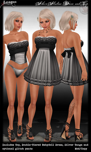 *League* Silver Shadow Dress & Top
