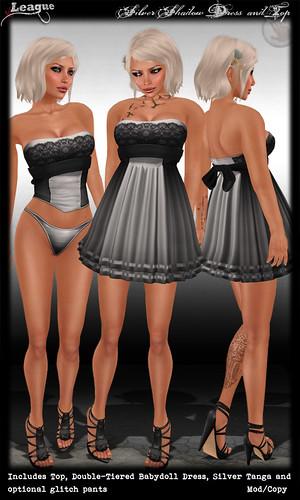 *League* Silver Shadow Dress & Top