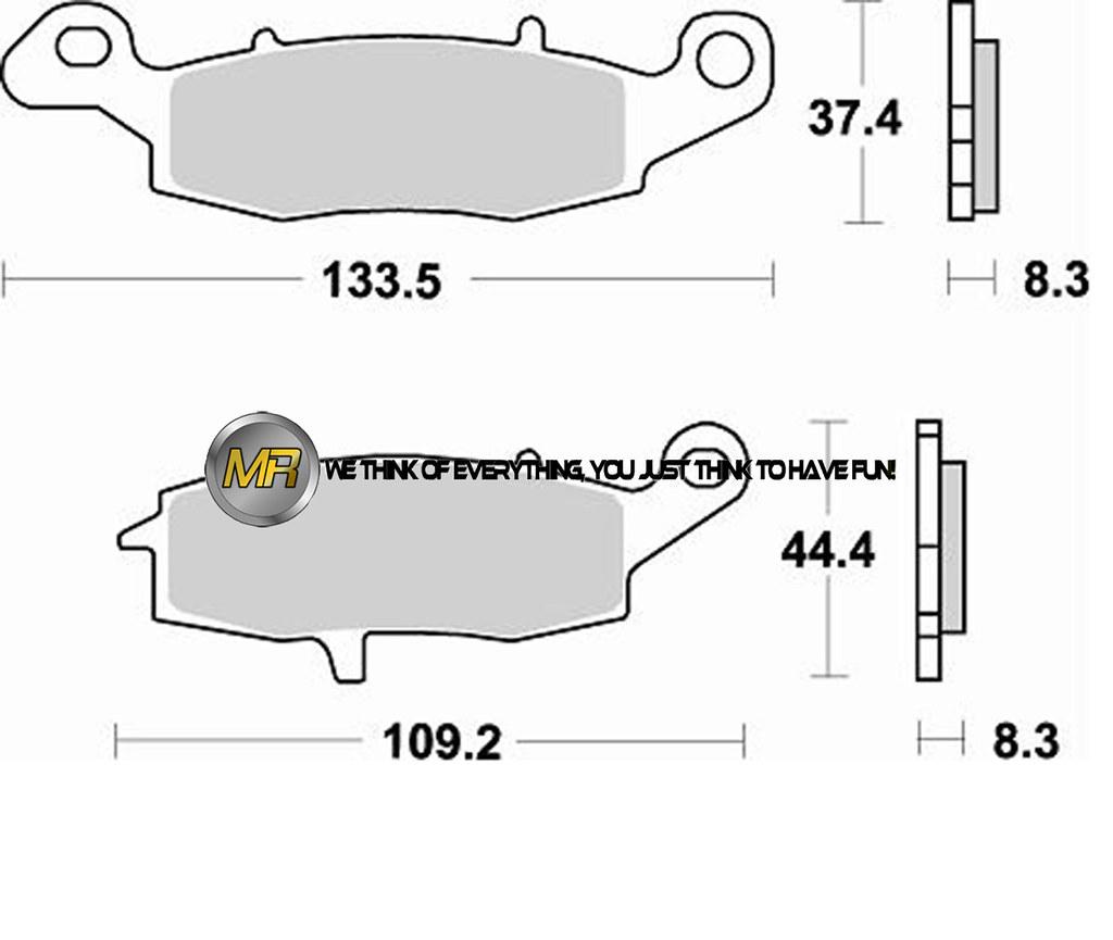 For Kawasaki Zr7s 750 01 Rear Sintered Brake Pads