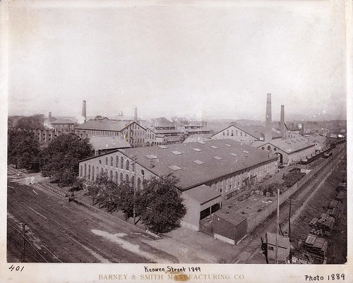 Barney and Smith Car Company in 1889