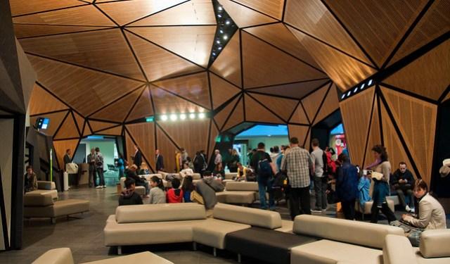 Wellington Airport's new international gate lounge, 26 Nov. 2010