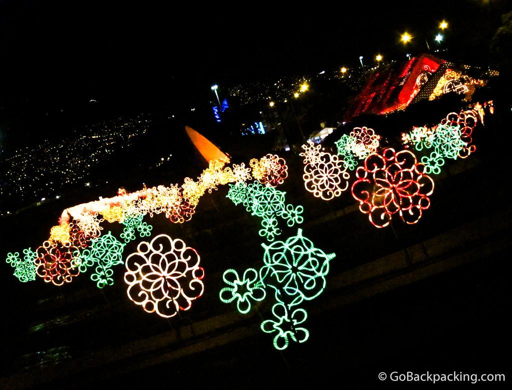 Holiday lights in Medellin