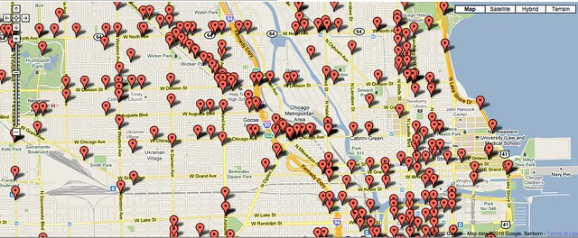 Bike crashes reported by Chicago Police Department