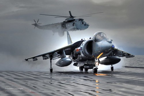 Harriers Leave HMS Ark Royal For Final Time