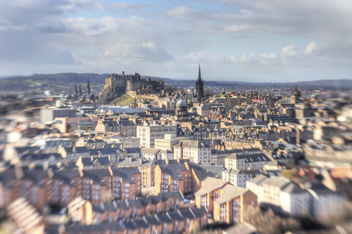 Edinburgh with a lensbaby