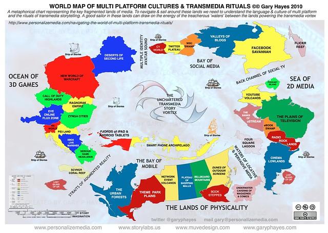 World Map of Multi-Platform Cultures & Transmedia Rituals