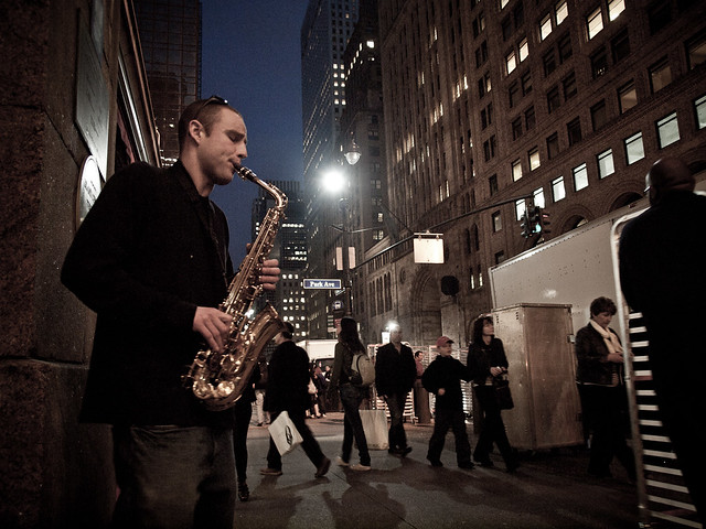 Grand Central saxophonist