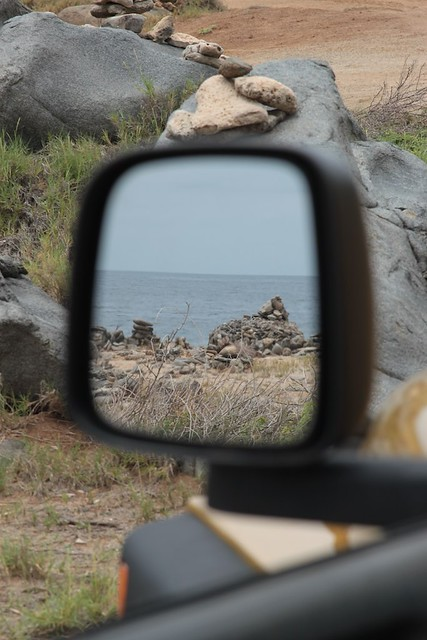 mirror landscapes, Aruba rear-view mirror