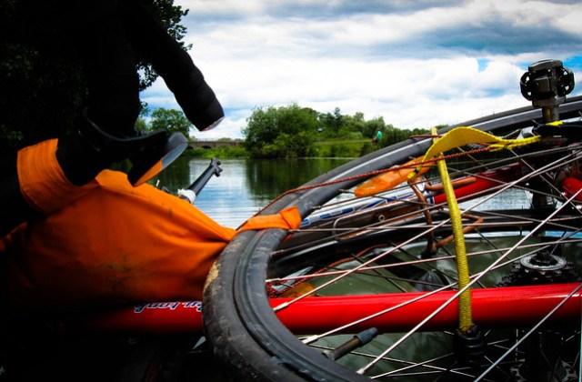 Bikerafting experiment: Floating 2