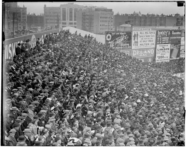 Big crowd at Fenway, 1912 World Series