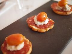 Soppressata, gorgonzola, roast tomato crostini. Club Street Social, Gemmill Lane, off Club Street