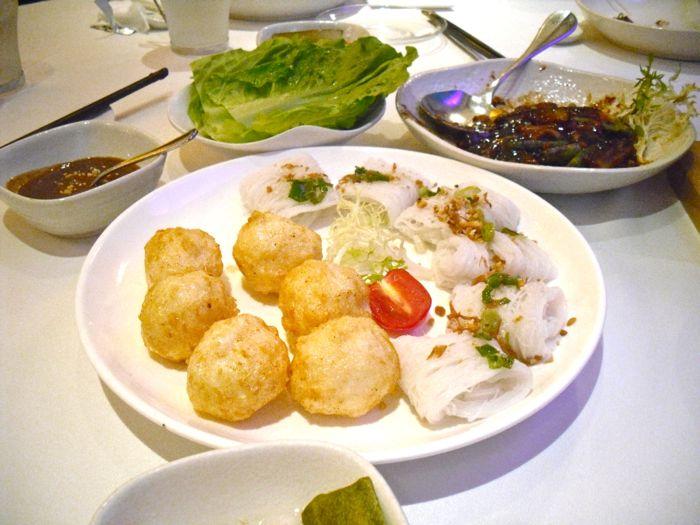 Cuttlefish balls and Bahn Hoi