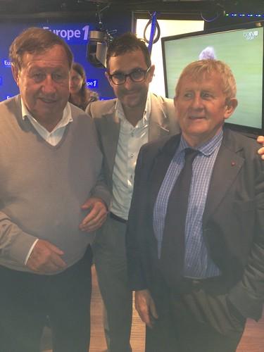 Arash Derambarsh avec Guy Roux et le juge Laurent Davenas. Débat sur le football français et de Courbevoie Sport by Arash Derambarsh
