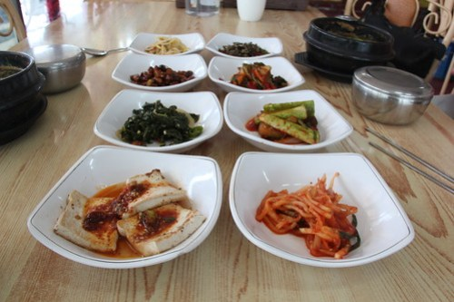 Lunch: mainly kimchi