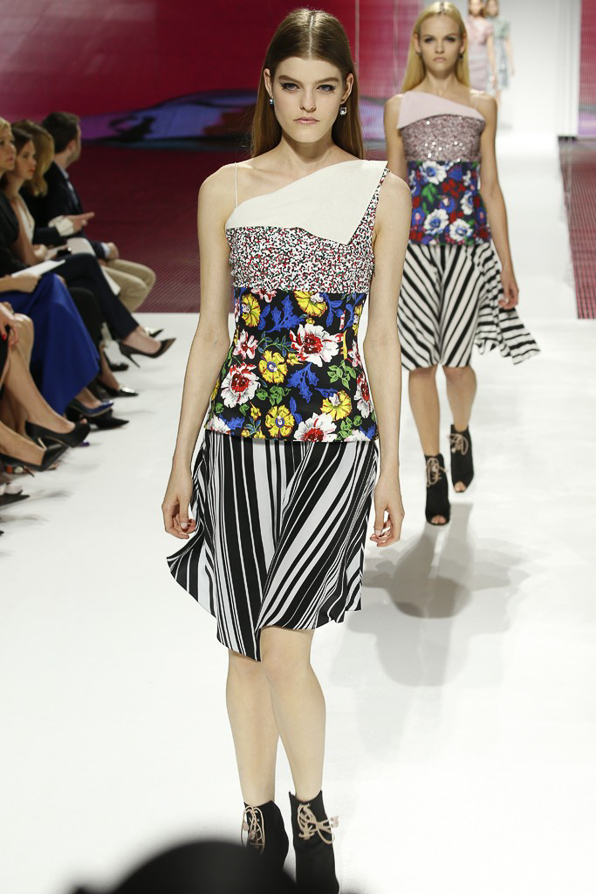 Print on print looks from Christian Dior Cruise 2015