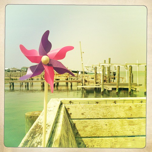 pinwheel in the dock