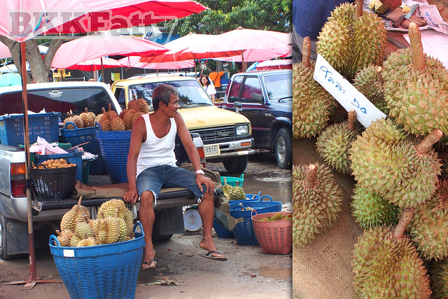 tapong fruit market rayong thailand