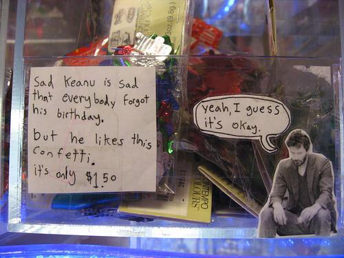 Sad Keanu is sad