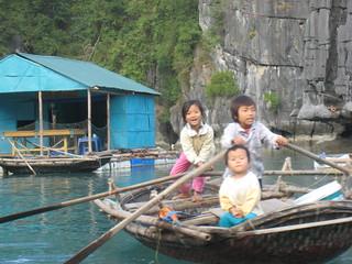 Boat Children - Halong Bay, North Vietnam, photo by Aja Marsh