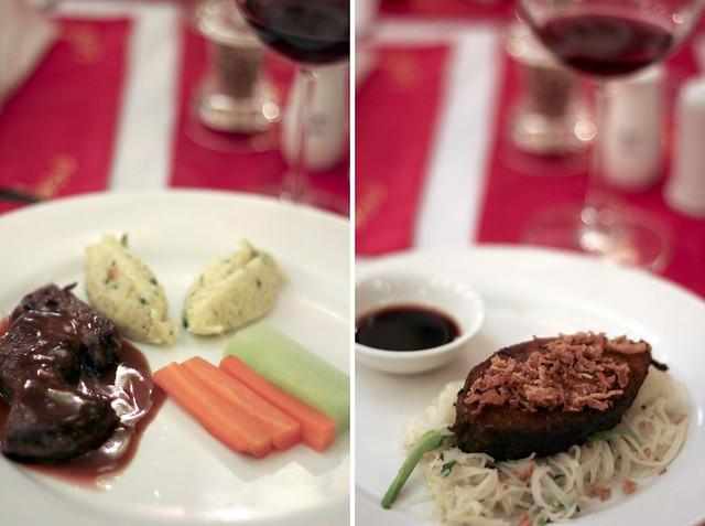 steak & mystery fish