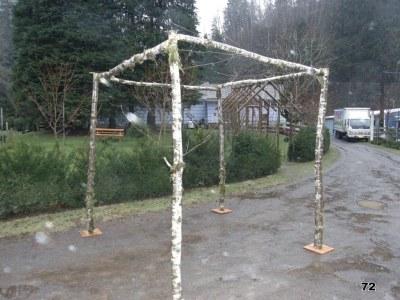 wedding pergola birch organic arch straight top