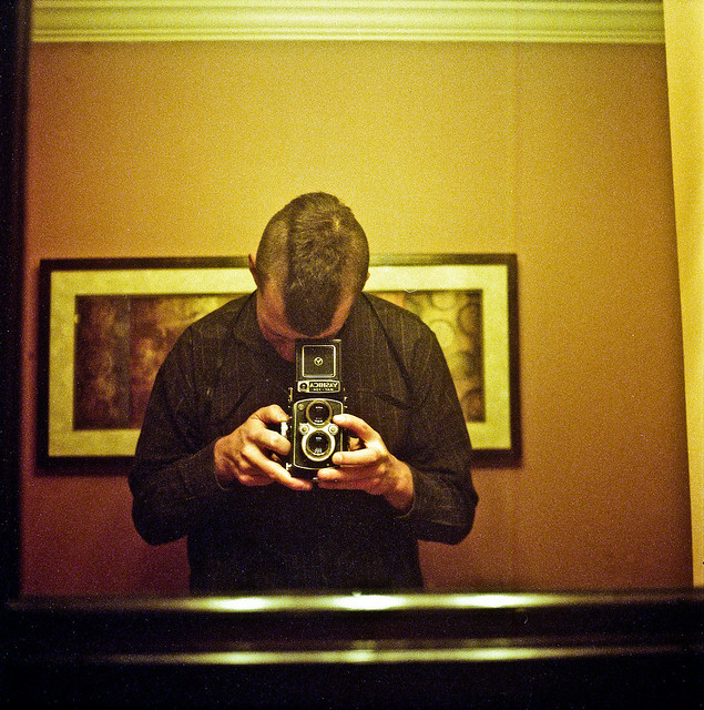 Self-Portrait in the Gandt Bathroom