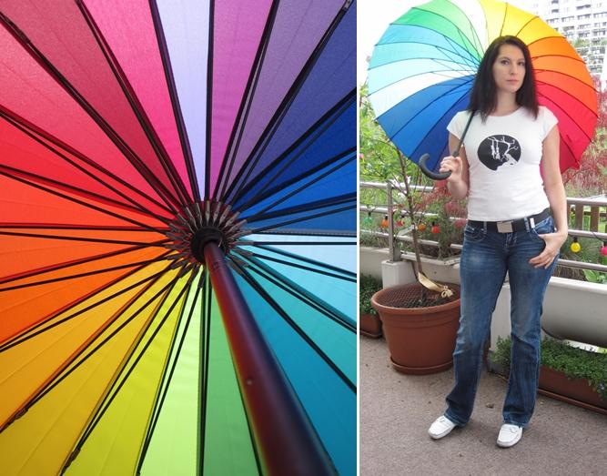 Project ME 14.04 Regenbogen Schirm