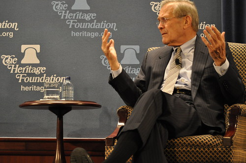Rumsfeld at The Heritage Foundation