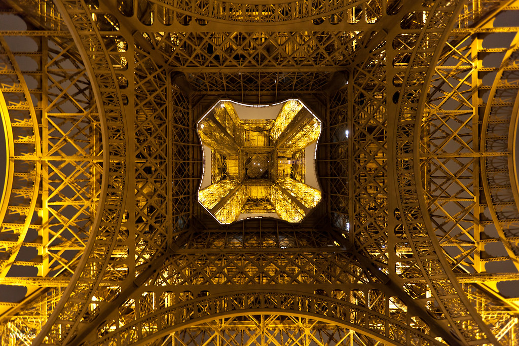 The Eiffel Tower Seen from Below